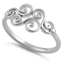 Load image into Gallery viewer, Sterling Silver Curly Waves Ring