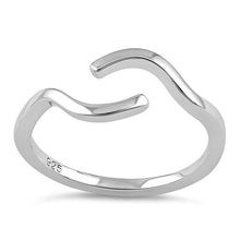 Load image into Gallery viewer, Sterling Silver Curved Line Ring