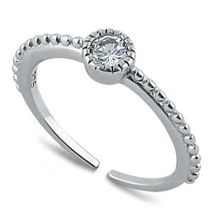 Sterling Silver CZ Toe Ring