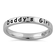 "Load image into Gallery viewer, Sterling Silver ""Daddy's Girl"" Ring"
