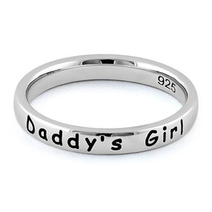 "Sterling Silver ""Daddy's Girl"" Ring"
