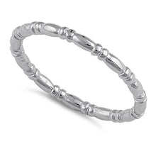 Load image into Gallery viewer, Sterling Silver Danity Bead & Bar Band