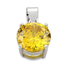 Load image into Gallery viewer, Sterling Silver Dark Gold Round CZ 10mm Pendant