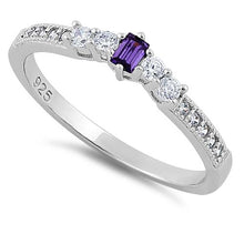 Load image into Gallery viewer, Sterling Silver Amethyst CZ Ring