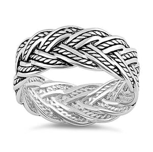 Sterling Silver Deep Woven Ring