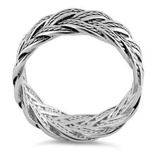 Load image into Gallery viewer, Sterling Silver Deep Woven Ring