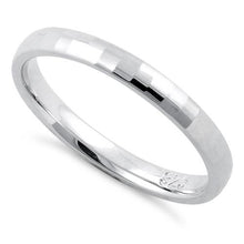 Load image into Gallery viewer, Sterling Silver Diamond Faceted Pattern Wedding Band Ring 2.5mm