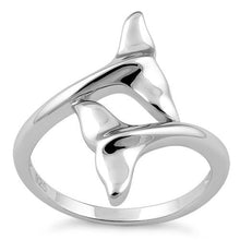 Load image into Gallery viewer, Sterling Silver Dolphin Fins RIng