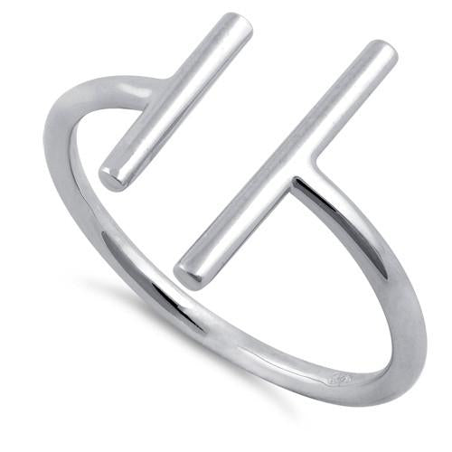 Sterling Silver Double Bar Ring