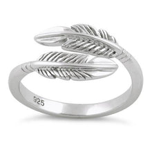 Load image into Gallery viewer, Sterling Silver Double Feather Ring