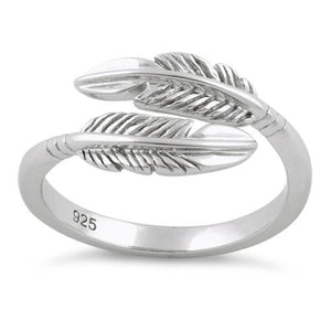 Sterling Silver Double Feather Ring