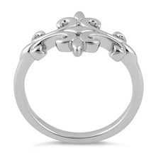 Load image into Gallery viewer, Sterling Silver Double Fleur de Lis Ring