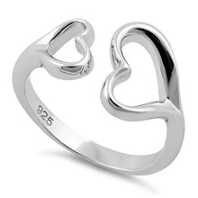 Load image into Gallery viewer, Sterling Silver Double Heart Ring