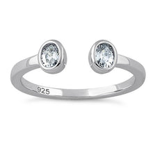 Load image into Gallery viewer, Sterling Silver Double Oval Cut Clear CZ Ring