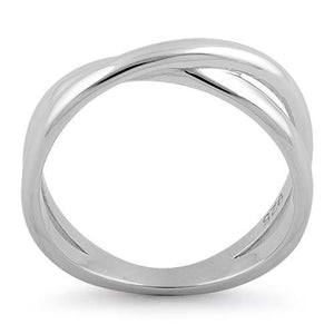Sterling Silver Double Overlapping Ring