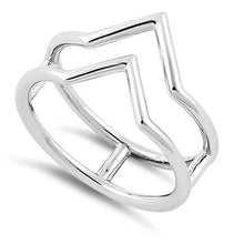 Load image into Gallery viewer, Sterling Silver Double V Ring