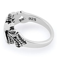 Load image into Gallery viewer, Sterling Silver Dove Leaves Ring