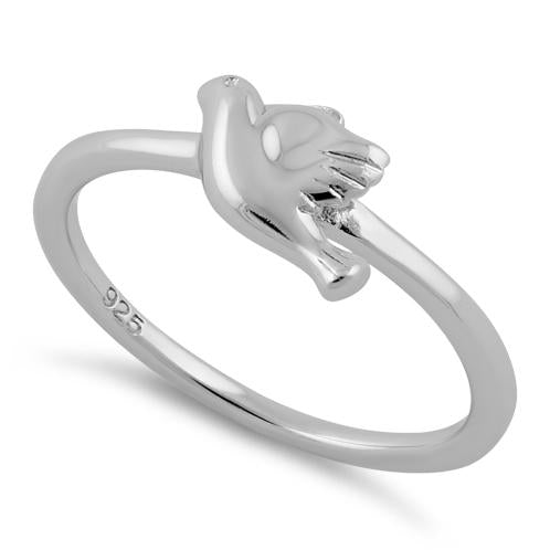 Sterling Silver Dove Ring