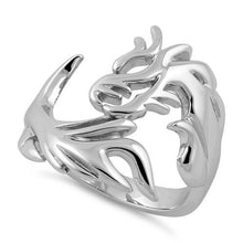 Load image into Gallery viewer, Sterling Silver Dragon Ring