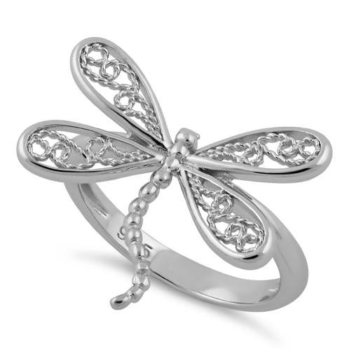 Sterling Dragonfly Ring,Dragonfly Ring,Silver,Spoon,Spoon Ring,Dragonfly,Antique Ring,Silver Ring,Sterling,Fly,Wedding valleygirldesigns.