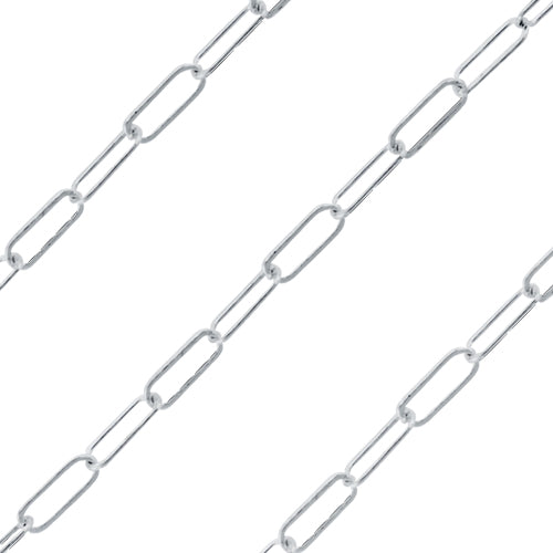 Sterling Silver Drawn Cable Chain 5 x 2mm (sold by the foot)