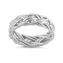 Load image into Gallery viewer, Sterling Silver Easy Woven Ring