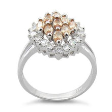 Load image into Gallery viewer, Sterling Silver Elegant Champagne Marquise Cut CZ Ring