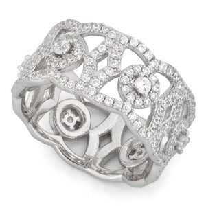 Sterling Silver Elegant Eternity Pave CZ Ring