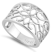 Load image into Gallery viewer, Sterling Silver Elegant Flower Ring