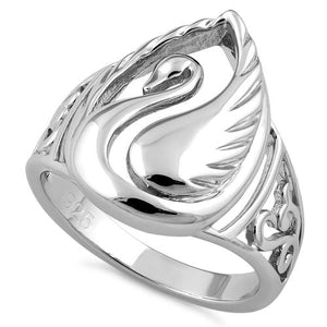 Sterling Silver Elegant Swan Ring