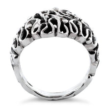 Load image into Gallery viewer, Sterling Silver Elegant Swirl Ring