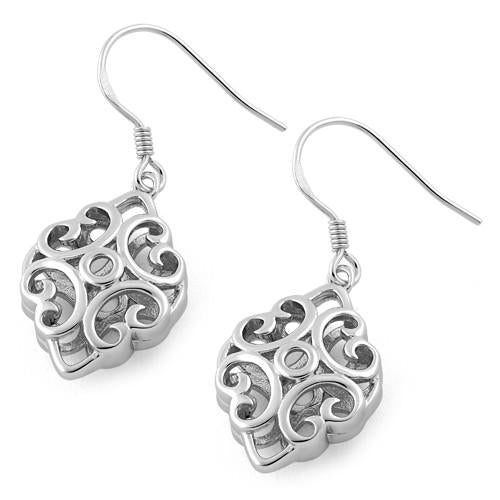 Sterling Silver Elegant Vines Dangle Earrings