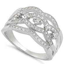 Load image into Gallery viewer, Sterling Silver Eloquent Round Clear CZ Ring