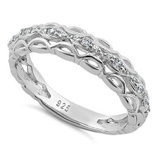 Load image into Gallery viewer, Sterling Silver Elysian Round Cut Clear CZ Ring