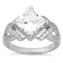 Load image into Gallery viewer, Sterling Silver Engagement Pave CZ Ring