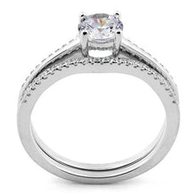Load image into Gallery viewer, Sterling Silver Engagement Set CZ Ring