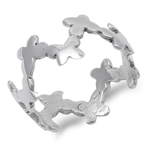 Sterling Silver Eternity Butterfly Ring