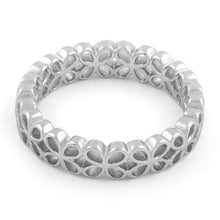 Load image into Gallery viewer, Sterling Silver Eternity Hollow Flower Ring