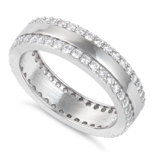 Sterling Silver Eternity CZ Ring