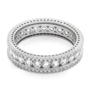 Sterling Silver Eternity Round CZ Ring