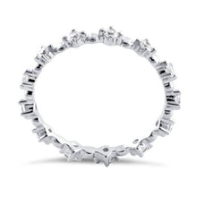 Load image into Gallery viewer, Sterling Silver Eternity Thin CZ Ring
