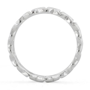 Sterling Silver Eternity X Ring