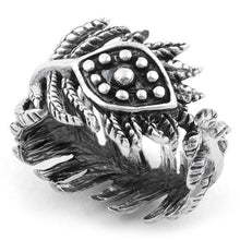 Load image into Gallery viewer, Sterling Silver Evil Eye Leaves Ring