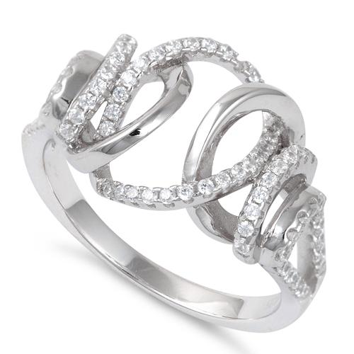 Sterling Silver Exotic CZ Ring