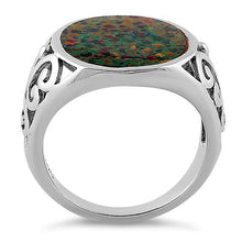 Load image into Gallery viewer, Sterling Silver Extravagant Black Lab Opal Ring