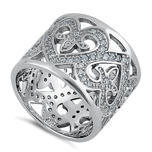 Sterling Silver Extravagant Heart CZ Ring
