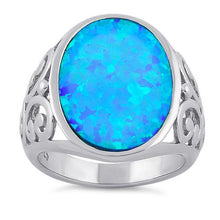 Load image into Gallery viewer, Sterling Silver Extravagant Lab Opal Swirl Ring