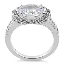 Load image into Gallery viewer, Sterling Silver Extravagant Oval CZ Ring