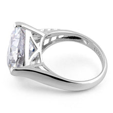 Load image into Gallery viewer, Sterling Silver Extravagant Trillion Clear CZ Ring