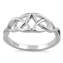Load image into Gallery viewer, Sterling Silver Eye Celtic Ring